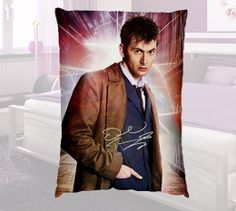 New DR WHO Tardis David Tennant Collection Autograph Pillow Case Cover