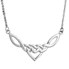 Bling Jewelry 925 Sterling Silver Celtic Love Knot Heart Necklace 18in #BlingJewelry #Pendant