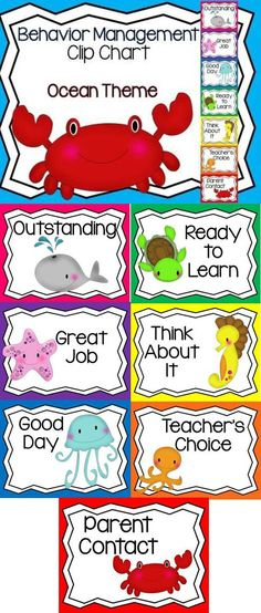 Behavior Management Clip Chart Ocean Theme with Parent Reports Ocean Theme Behavior Clip Chart! My best seller! Now with parent monthly and weekly reports. First Grade Classroom, Classroom Behavior, Kindergarten Classroom, Future Classroom, Classroom Themes, Classroom Organization, Ocean Themed Classroom, Bilingual Classroom, Spanish Classroom