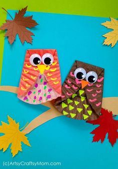 Diy fall crafts 234539093082414415 - Kids will love this adorable cupcake liner owl craft, made with Fall-themed colors and embellishments. A really simple project that's perfect for little kids too! Craft Work For Kids, Halloween Crafts For Toddlers, Crafts For Seniors, Thanksgiving Crafts For Kids, Crafts For Kids To Make, Toddler Crafts, Art For Kids, Crab Crafts, Dinosaur Crafts