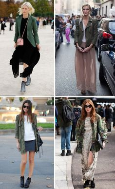 green army jacket outfits  Army Jacket #2dayslook #duongdayslook #ArmyJacket  www.2dayslook.com