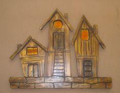 Χειροποίητη δημιουργία μου σε ξύλο-γυαλί φιούζινκ-υπάρχει δυνατότητα διαφοροποιήσεων. Clock, Wall, Home Decor, Watch, Decoration Home, Room Decor, Clocks, Walls, Home Interior Design
