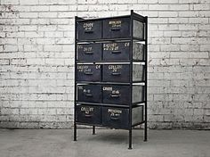This Industrial furniture storage unit is a jaw dropping classic, providing the perfect vintage styled decor for your home, cafe, bar or restaurant. Fast delivery Australia wide.