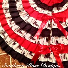 Sewn Red and Black Atlanta Falcons 50 Inch by SouthernRoseDesign, $115.00