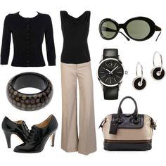 Something in black is always appropriate. - Polyvore