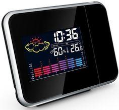 Weerstation / wekker met tijdprojectie vanaf EUR17,50  Vandaag bij ons als dagaanbieding een weerstation met wekker en tijd projectie. Wekker en weerstation in één De König Projectiewekker is niet alleen een wekker, maar ook een weerstation. De wekkerfunctie bestaat uit een enkelvoudig wekalarm met een snooze-functie. Zo kunt u altijd nog even wegdommelen, nadat uw alarm is afgegaan. Bovendien kan de wekker de tijd op het plafond of op de muur projecteren. Zo kunt u ook 's nachts de tijd…