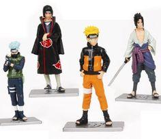 Japanese Anime Naruto Figures Collection Figurines 4pc Set , Kakashi Uzumaki Naruto Sasuke:Amazon:Toys  Games