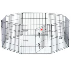 The Lucky Dog heavy duty indoor/outdoor wire exercise pen features an E-coating finish and is built for durability, convenience and your pet's safety. Lucky Dog pens come in three sizes and has eight