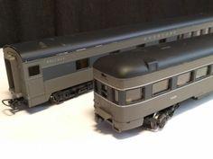 Selten-H0-Rivarossi-2642-Roomette-amp-2643-Tail-car-Union-Pacific-Pullman-mit-OVP