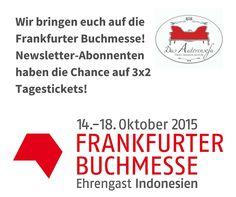 Wir bringen euch auf die Frankfurter Buchmesse!