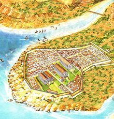 Artistic reconstruction of Selinunte's Acropolis.