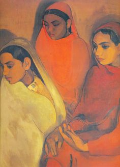 Women You Should Know — Amrita Sher-gil | Born to a Punjabi Sikh aristocrat and a Hungarian Jewish opera singer, Sher-gil learned to paint at age eight. She studied in Florence and Paris, and was influenced by European painters of the time, like Cezanne and Gauguin. After returning to India in 1936, she was inspired by the Bengal School of Art, and toured South India, where she found her calling- to paint the lives of Indian people, particularly villagers and women.