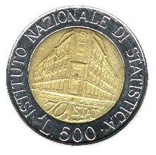 · ISTITUTO NAZIONALE DI STATISTICA ISTAT · 1996 70 L. 500 R