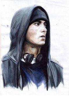 Eminem Eminem Rap, Eminem Quotes, Eminem Drawing, Eminem Wallpapers, Tupac Art, Hip Hop Singers, First Rapper, Eminem Slim Shady, Ariana Grande Drawings