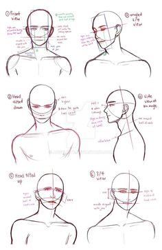 Drawing Tips drawing busts by AngelKite - Body Reference Drawing, Anatomy Reference, Art Reference Poses, Figure Drawing, Drawing Guide, Learn Drawing, Hand Reference, Anatomy Sketches, Anatomy Art