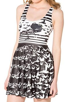 Women's Cartoon Printed Stretchy Sleeveless Pleated Fit a...