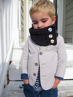 #jacket #scarf #kid #stylish #boy #grey #pin #popular