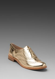 SAM EDELMAN Jerome Oxford Flat in Effegi Gold at Revolve Clothing - Free Shipping!
