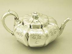 Paul Storr Teapot | Antique Sterling Silver Teaware  SKU: W9646 Price    GBP £3,950.00 http://www.acsilver.co.uk/shop/pc/Sterling-Silver-Teapot-by-Paul-Storr-Antique-William-IV-49p6563.htm#.VDPBs_ldXHU