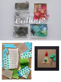 A beautifully inspiring post about introducing children to collage...