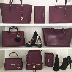 burgundy-michael-kors-bags- Branded handbag that are on trend