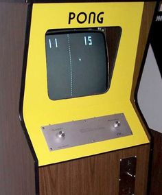 PONG (1972). This simple game is where the video culture began. Today's gamers would laugh at the concept that this was considered a revolutionary for of entertainment.