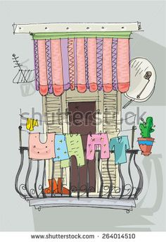 Find Cute Balcony Cartoon stock images in HD and millions of other royalty-free stock photos, illustrations and vectors in the Shutterstock collection. Thousands of new, high-quality pictures added every day. Building Illustration, House Illustration, Painting & Drawing, Watercolor Paintings, Cartoon House, Building Art, Zentangle Patterns, Beautiful Drawings, Whimsical Art