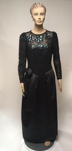 85c0887dd65 Sequin Gown Mignon Formal Wedding Prom Evening Dorothy Farbo Black Maxi  Dress  Mignon  BallGown