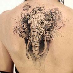 Gorgeous tattoo. .!!   Credit : @radtattoos - | ''Alzheimer's'' @victormontaghini . #elephant #elephants #elephantlove