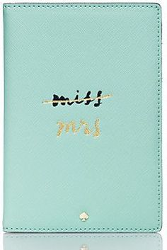 Wedding belles travel passport holder by Kate Spade. Cute for a newlywed on her honeymoon!