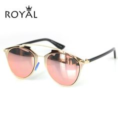 New Brand Designer Women Sunglasses Metallic Frame Reflective Mirror Glasses Shades High Quality Cat Eye Sun Glasses ss398-in Sunglasses from Women's Clothing & Accessories on Aliexpress.com | Alibaba Group