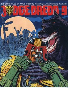 Dredd cover by Brendan McCarthy