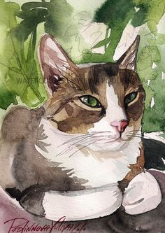 This is digital print of my original watercolor painting of tabby and white cat Midday Rest Please note: it is an INSTANT DOWNLOAD print, you will not receive any physical item. You will receive 1 high resolution ( 300dpi) JPEG( appropriate for any pogram)image. You can make as many copies as you want. Print it at home or go to a print shop. For a better quality I recommend to print on professional printing paper and 4 or 6 colors ink jet. If you would like me to print and ship this print…