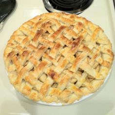My first attempt at apple pie with help from my hubby...completely homemade!