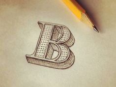 Such great texture!  The Letter B   hand lettering by seanwes