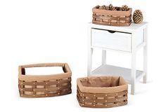 S/3 Curved Baskets on OneKingsLane.com