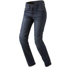 Rev'it Ladies Broadway Cordura Denim Jeans - Solid Dark Blue - FREE UK DELIVERY