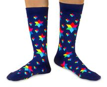 Dark candy luxury combed cotton crew socks by Ballonet