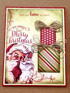 CREATE EVERYDAY: No stamping Christmas Card. I used papers from AUT...