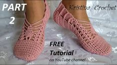 Crochet Slippers Tutorial with Pattern  PART 2  Heklane zepe 2.deo