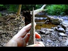 How to Make a Knife from Flint Rock - YouTube