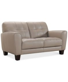 Show details for Yancy Galaxy Buttercream Leather PWR Recline Sofa