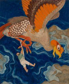 Edmund Dulac - Unpublished Arabian Nights story illustration.