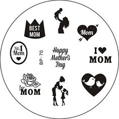 Born+Pretty+Nail+Art+Stamping+Template+Image+Plate+Mother's+Day+Theme+BP70