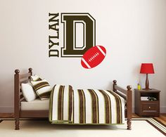 Custom Name Decal Vinyl wall Decal Teen boys by likewall on Etsy, $25.00
