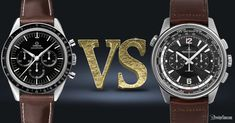 Let's compare two respected watchmakers OMEGA VS Jaeger LeCoultre and see which one is best for you! Luxury Watches, Rolex Watches, Watches For Men, Jaeger Lecoultre Watches, Planet Ocean, Limited Edition Watches, Omega Speedmaster, Watch Brands, James Bond