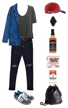 """""""Bottle up and explode!"""" by origami-kitten ❤ liked on Polyvore featuring Boohoo, CO, Superdry, James Perse, adidas, Tsovet and H&M"""