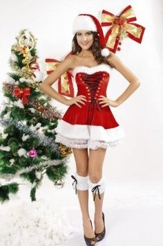 Red Velvet Christmas Corset Set is an excellent and versatile wholesale sexy corset that can be worn as Christmas lingerie and corset,perfectly as common corset as well.Wholesale corset and lingerie from China. Corset Sexy, Red Corset, Corset Rouge, Dulces Halloween, Sexy Korsett, Santa Dress, Christmas Lingerie, Plus Size Corset, Santa Costume