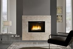 D1350 Fireplace with dual opening door system Cheminées Chazelles .