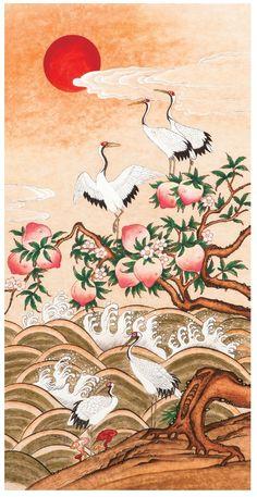 대한민국민화공모대전 - 우종숙 - 해학반도도 Korean Painting, Chinese Painting, Chinese Art, Japanese Drawings, Japanese Artwork, Korean Art, Asian Art, Oriental, Art Asiatique